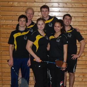 Erste Mannschaft 2013/14: Janosch, Lübbe, Sarah, Sebastian, Pia, Samuel