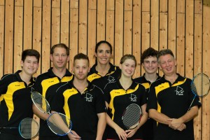 Zweite Mannschaft 2013/14: Lucas, Marco, Sven, Natalia, Sandra, Cedric, Hansjörg