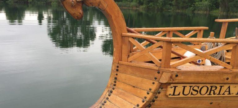 Rudern mit dem Römerschiff